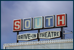south drive in sign